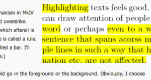 How to highlight text in LaTeX