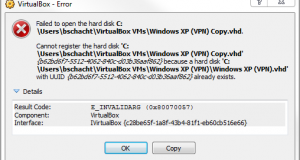 VirtualBox Duplicate UUID