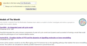 BioModels' Models of The Month RSS feeds