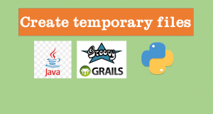 Create temporary files