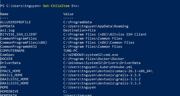 Use PowerShell to Set Environment Variables