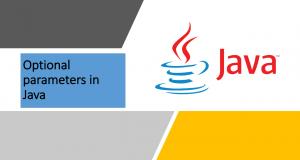 Optional Parameters in Java